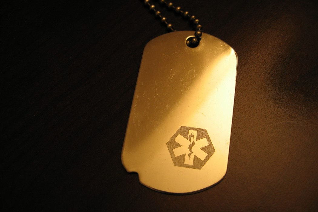 We donate medical id tags and other supplies to developing countries.