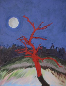 """Blood Tree and Full Moon"" by Tim Andrews"